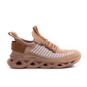 Ανδρικά καφέ αθλητικά παπούτσια Kiss GoGo Kiss GoGo