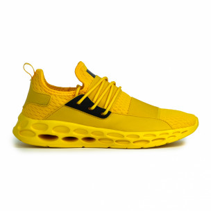 Ανδρικά κίτρινα αθλητικά παπούτσια κάλτσα με λάστιχο