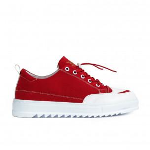 Ανδρικά κόκκινα πάνινα παπούτσια  2