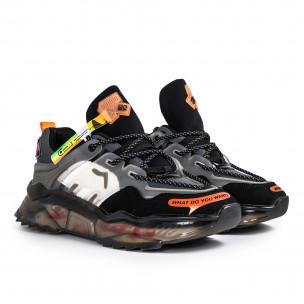 Ανδρικά πολύχρωμα sneakers με λεπτομέρειες σιλικόνης 2