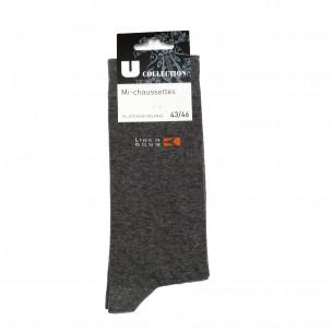 Ανδρικές κάλτσες γκρι βαμβάκι 1 ζευγάρι