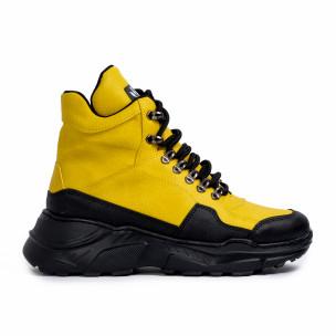 Ανδρικά κίτρινα sneakers Trekking design