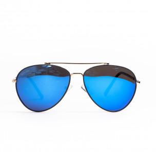 Ανδρικά γαλάζια γυαλιά ηλίου aviator