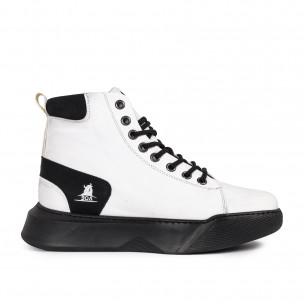 Ανδρικά λευκά ψηλά sneakers Boa Boa