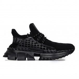 Ανδρικά μαύρα αθλητικά παπούτσια Cubic Kiss GoGo