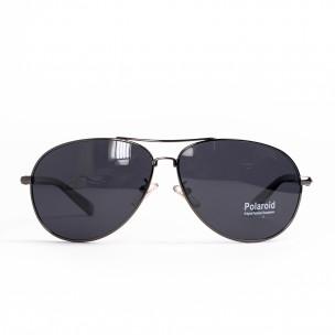 Ανδρικά γκρι γυαλιά ηλίου aviator