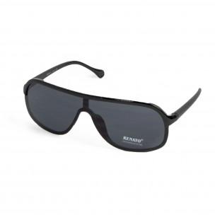 Ανδρικά μαύρα γυαλιά ηλίου μάσκα  2