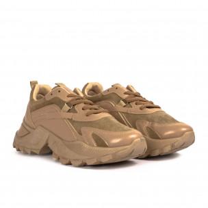 Γυναικεία μπεζ sneakers Chunky Fashion&Bella 2