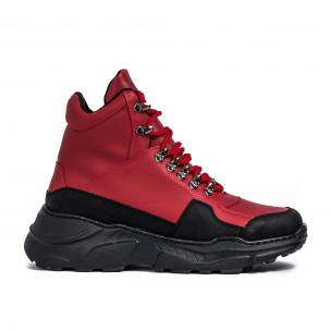 Ανδρικά κόκκινα sneakers Trekking design Wagoon