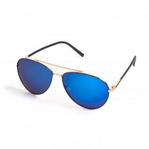 Ανδρικά γαλάζια γυαλιά ηλίου aviator  2