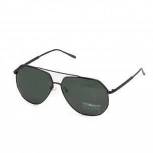 Ανδρικά μαύρα γυαλιά ηλίου hexagonal  2