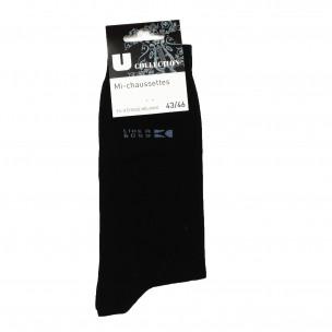 Ανδρικές βαμβακερές κάλτσες μαύρες 1 ζευγάρι
