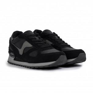 Ανδρικά μαύρα αθλητικά παπούτσια Flair  2