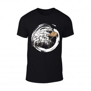 Κοντομάνικη μπλούζα Eagle μαύρο