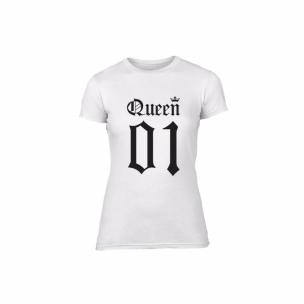Γυναικεία Μπλούζα King 01 & Queen 01 λευκό Χρώμα Μέγεθος M