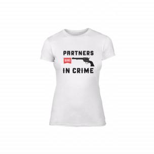 Γυναικεία Μπλούζα Partners in Crime λευκό Χρώμα Μέγεθος M