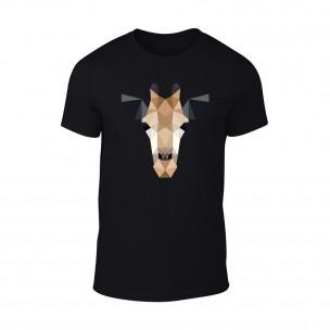 Κοντομάνικη μπλούζα Giraffe μαύρο TEEMAN