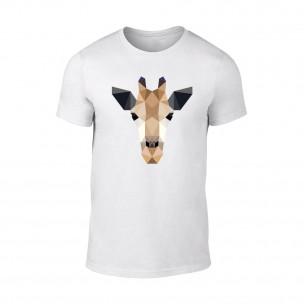 Κοντομάνικη μπλούζα Giraffe λευκό