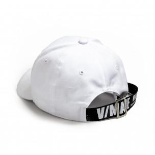 Ανδρικό λευκό καπέλα μπέιζμπολ με λεπτομέρεια 2