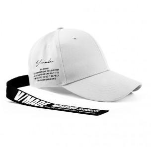 Ανδρικό λευκό καπέλα μπέιζμπολ με λεπτομέρεια