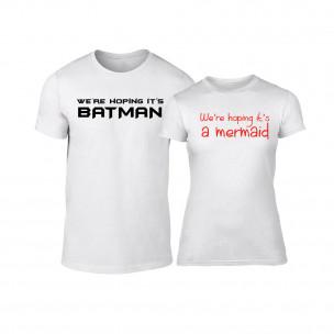 Μπλουζες για ζευγάρια We are hoping λευκό