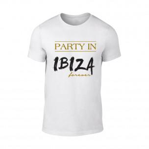 Κοντομάνικη μπλούζα Ibiza λευκό Χρώμα Μέγεθος S