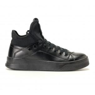 Ανδρικά μαύρα sneakers Montefiori Montefiori