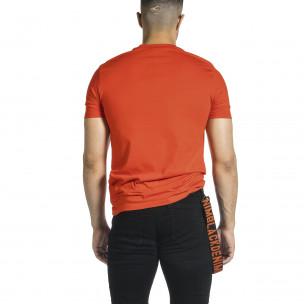 Ανδρική κόκκινη κοντομάνικη μπλούζα Breezy Breezy 2