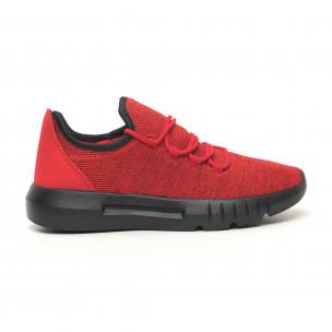 Ανδρικά κόκκινα μελάνζ αθλητικά παπούτσια ελαφρύ μοντέλο Kiss GoGo