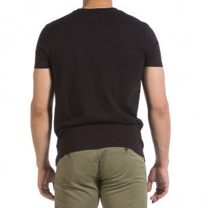 Ανδρική μαύρη κοντομάνικη μπλούζα Hey Boy 2