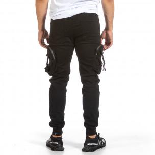 Ανδρικό μαύρο παντελόνι Yes Design Yes Design 2