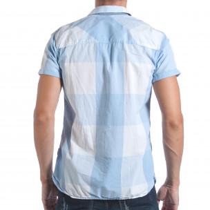 Ανδρικό γαλάζιο κοντομάνικο πουκάμισο CROPP  2