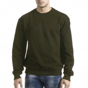 Ανδρική πράσινη μπλούζα με πρίντ στην πλάτη 2