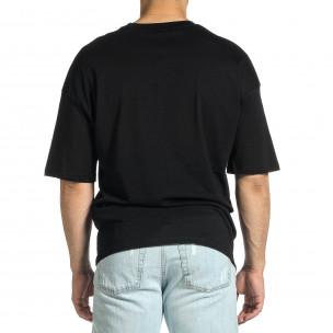 Ανδρική μαύρη κοντομάνικη μπλούζα Oversize Breezy 2