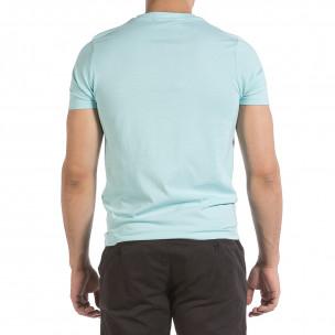 Ανδρική γαλάζια κοντομάνικη μπλούζα Hey Boy 2