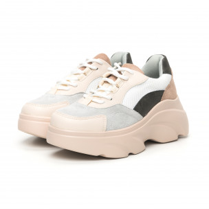 Γυναικεία αθλητικά παπούτσια σε παστέλ χρώματα Seastar 2
