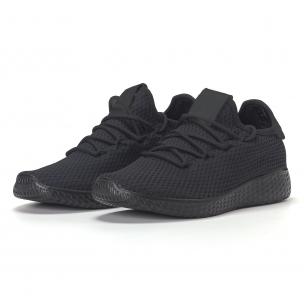 Ανδρικά μαυρα ελαφρία αθλητικά παπούτσια All-black  2