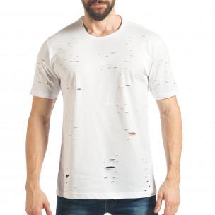 Ανδρική λευκή κοντομάνικη μπλούζα Black Island Black Island
