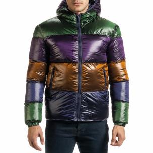 Ανδρικό πολύχρωμο χειμωνιάτικο μπουφάν  2