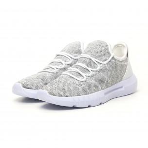 Ανδρικά λευκά μελάνζ αθλητικά παπούτσια ελαφρύ μοντέλο  2