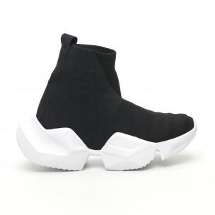 Γυναικεία μαύρα ψηλά sneakers  Keceli
