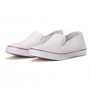 Ανδρικά λευκά sneakers slip-on   2