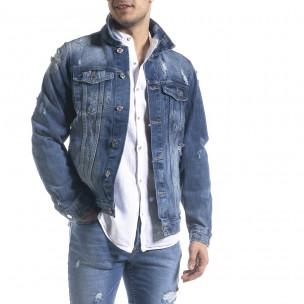 Ανδρικό γαλάζιο ανοιξιάτικο-φθινοπωρινό μπουφάν Bruno Leoni