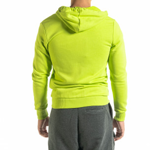 Ανδρικό νέον πράσινο φούτερ Basic 2