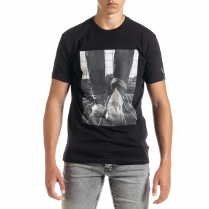 Ανδρική μαύρη κοντομάνικη μπλούζα Freefly Freefly
