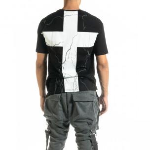 Ανδρική μαύρη κοντομάνικη μπλούζα Black Island 2