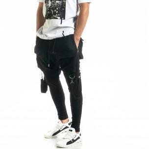Ανδρικό μαύρο παντελόνι Hip Hop Jogger