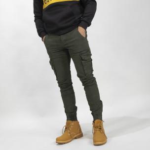Ανδρικό Cargo Jogger παντελόνι σε χρώμα Olive