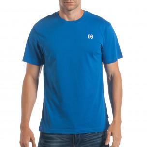 Ανδρική γαλάζια κοντομάνικη μπλούζα CROPP