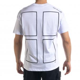 Ανδρική λευκή κοντομάνικη μπλούζα SAW 2